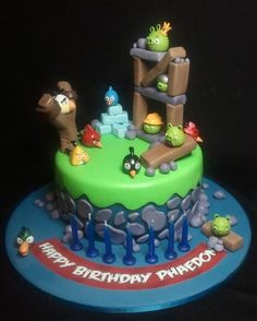 angry birds. Is kind of Like the cake cata picked for her birthday. What a weird little munchkin but i love her