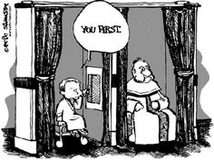 Atheism, Religion, God is Imaginary. Funny Catholic Confession Booth Joke. You First.
