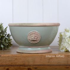 Kew Footed Bowl in Chartwell Green - Royal Botanic Gardens Plant Pot - www.interiorgifts.co.uk