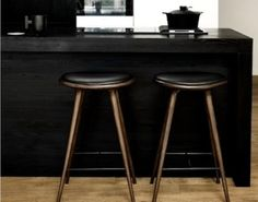 Mater - High Stool Dark Stained White Oak at Remodelista