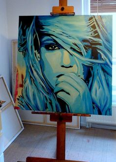 Britney Spears painting  Artist: Natmir (deviantART)  #BritneySpears #Painting
