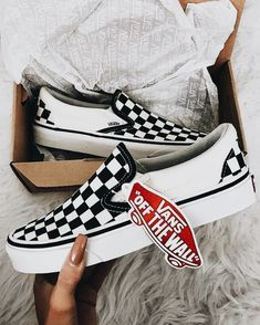 vans shoes Trendsetter VANS Slip-On Canvas Old Skool Print Flats Sneakers Sport Shoes on Wanelo Black Shoes Sneakers, Kid Shoes, Cute Shoes, Me Too Shoes, Women's Shoes, Shoe Boots, Vans Sneakers, Girls Vans Shoes, Shoes For Teens