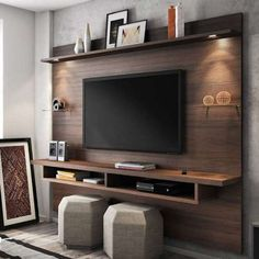 Chic and Modern TV wall mount ideas. Here are 15 best TV wall mount ideas for any place including your living room. Modern Tv Wall Units, Modern Wall, Living Room Tv Unit Designs, Muebles Living, Tv Wall Decor, Diy Tv Stand, Tv Furniture, Tv Wall Design, Wall Mounted Tv