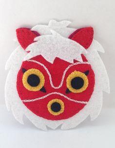 Felt Princess Mononoke San Mask Patch Studio Ghibli