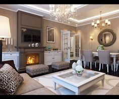 Living room and dinning combo. this layout could work well for my house