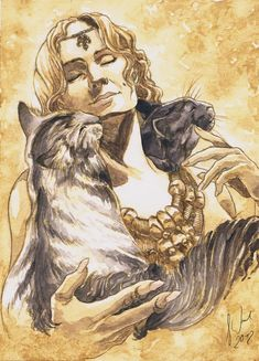 Bygul and Trjegul are the cats that pull the Norse Goddess Freya's chariot.