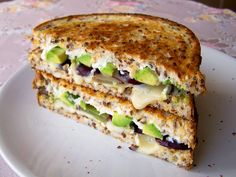 Brie, Grape & Avocado: Made with wholegrain bread, Brie, red grapes, avocado, wholegrain mustard, cream cheese and sea salt. From Kitchen Lab.