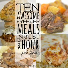 Ruth at Living Well, Spending Less has written a part 3 to her series on How to Make 10 Freezer Meals in One Hour: Today I am super excited to share this Comfort Foods Edition of 10 Freezer Meals in One Hour, which includes five …