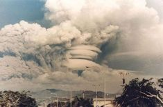 Mt. Pinatubo volcano eruption clouds (1991)