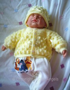 Angies Angels patterns - exclusive designer knitting and crochet patterns for your precious baby or reborn dolls, handmade, handknitted, baby clothes, reborn doll clothes Baby Knitting Patterns Free Newborn, Spool Knitting, Baby Girl Crochet, Crochet Doll Clothes, Knit Crochet, Crochet Sweaters, Baby Sweaters, Reborn Dolls, New Baby Products