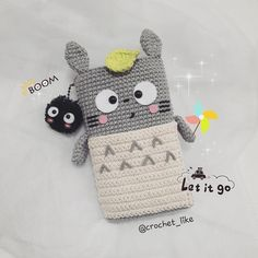 let's go!! #totoro #crochet#crocheting#crocheteveryday #handmade#cute#adorable #hobby#cottonyarn #amigurumilove #amigurumi