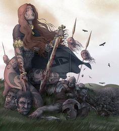 Boudicca - this poor chieftans wife was forced to watch her two young daughterrs raped! She flew into an Irish Celtic rage and started her war against the Romans. As you can tell it was a very bloody war.