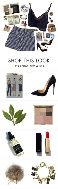 """""""Set 916 ft. Pre-owned Christian Louboutin So Kate 120mm Suede Us7 Eu37 Black Pumps"""" by yen-and-len ❤ liked on Polyvore featuring Moleskine, Christian Louboutin, Stila, Chanel and Dolce&Gabbana"""
