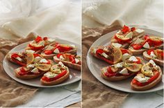Сегодня у меня для вас простая но нарядная и вкусная закуска! Можно и себе для перекуса сделать и гостям к вину не стыдно подать!: на 6-8 брускетт 1 болгарский перец…