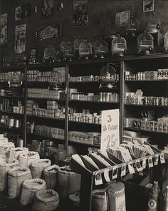 "WALKER EVANS, Seed Store Interior, Vicksburg, Mississippi, 1936, silver print, printed ca. 1936, 9 3/4"" x 7 5/8"""