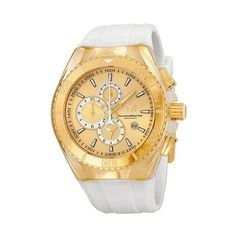 Technomarine Cruise Star Chronograph Gold Dial Gold-Tone Stainless Steel Ladies