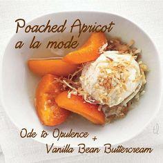 Poached #Apricot a la mode = Ode to #Opelence + #Vanilla Bean #Buttercream
