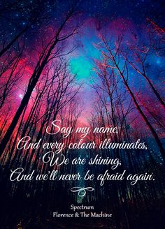 Lyrics of the song Spectrum by Florence & The Machine. Original photo here http://pinterest.com/pin/97249673176242319/