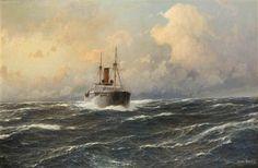 Steamer on the High Seas - Hugo Schnars-Alquist