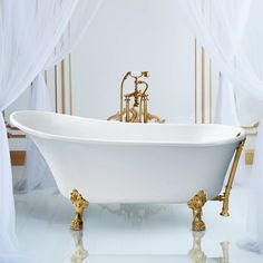 "StreamlineBath 67"" x 32"" Clawfoot Soaking Bathtub & Reviews 