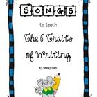 This is a collection of six songs that I developed to help my students understand the 6 Traits of Writing.  These songs will help your students und...