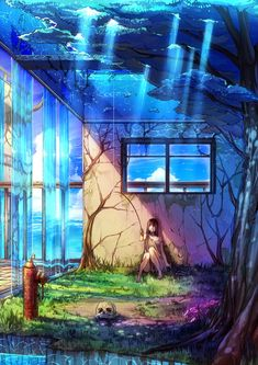 1. Lonely girl fishing. Loyalty  7th level of Cloud 11 Thick Story Tella art ST
