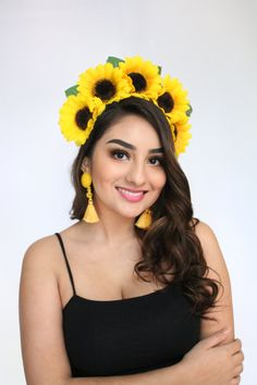 Excited to share this item from my shop: Sunflower Flower Crown Sunflower Headpiece Mexican Headband Frida Flower Crown Frida Kahlo Floral Crown Sunflowers Festival Clothing Boho Sunflower Headband, Sunflower Flower, Diy Flower Crown, Floral Crown, Flower Crowns, Festival Clothing, Festival Outfits, Watermelon Costume, Mexican Flowers