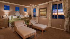 Beautiful master #bedroom #decor by Taylor Morrison at Bridges at #Gilbert.