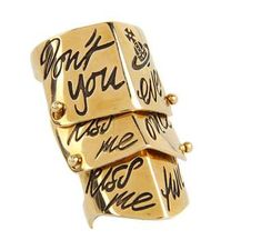Vivienne Westwood Kiss Me Twice Ring #VivenneWestwood #Jewelry #Xmas
