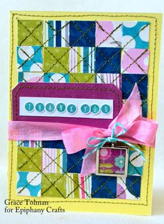 Card made with the #epiphanycrafts Shape Studio Tool Square and charms available at #MichaelsStores www.epiphanycrafts.com #card #mymindseye #thetwinery