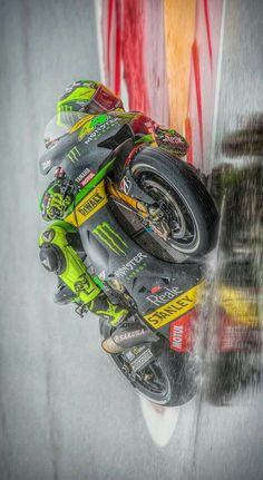 Pol Espargaro in the rain.