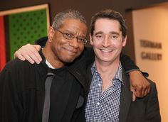 Paul Beatty was crowned the winner of the National Book Critics Circle Award for fiction for his book 'The Sellout' (FSG) in New York City on March 17. Pictured (l-r) is Beatty with his editor Colin Dickerman. Photo: Nancy Crampton