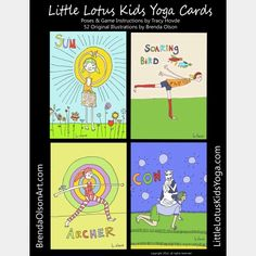 LIttle Lotus Kids Yoga Cards  - Pinned by @PediaStaff – Please Visit  ht.ly/63sNt for all our pediatric therapy pins