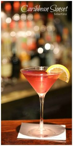 Easy to make Caribbean Sunset Martini Recipe the perfect combination of raspberry and coconut.