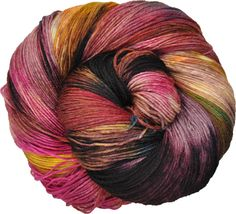 100g Juno Hand Dyed Merino 4ply Sock Yarn: Be The Mage