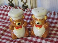 Sweet Little Bakers Bears Salt and pepper by Daysgonebytreasures, $7.00