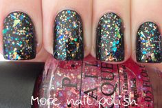 OPI I Lily love you over black