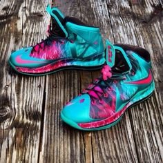 shoes teal lebron james