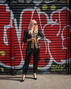 Sequin coordinates | Photo shared by Catherine | For more style inspiration visit 40plusstyle.com