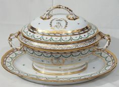 An 18th Century French Porcelain Soup Tureen | From a unique collection of antique and modern tureens at http://www.1stdibs.com/furniture/dining-entertaining/tureens/