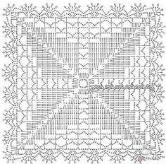 схемы квадратных салфеток крючком - Поиск в Google