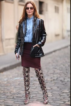 oh blue    The Best Street Style From Paris Fashion Week Photo 10