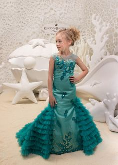 Items similar to Teal Flower Girl Mermaid style Dress -Wedding Party Mermaid Style Teal Lace Tulle Flower Girl Dress on Etsy Birthday Dresses, Wedding Party Dresses, Tulle Wedding, Wedding Parties, Formal Wedding, Tulle Flower Girl, Flower Girl Dresses, Little Girl Dresses, Girls Dresses
