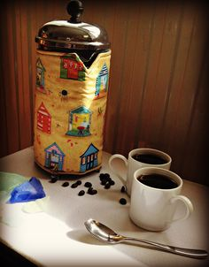 Cafetiere cosy by Plain Dotty