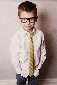 Taylor Joelle Designs Yellow & Gray Skinny Tie on sale for $10