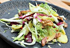 salat med kartofler,fennikel,valnødder