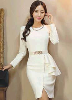 f3fa6b633af3 Elegant Dress from Styleonme. Korean Fashion