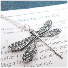 Dragonfly Stamping Necklace