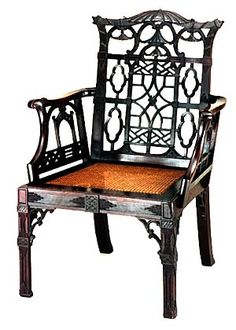 Chinese Chippendale chair, Colonial Williamsburg.