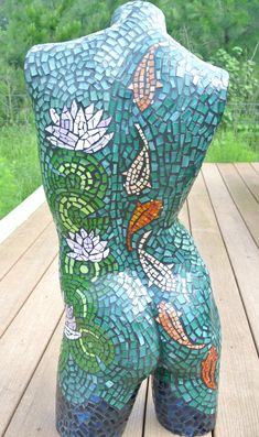 Koi Fish Lady, Mannequin Mosaic